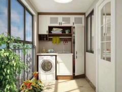 广州工厂定制洗衣机柜阳台多功能滚筒高低切角人造石台面陶瓷台盆